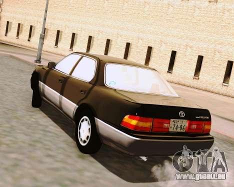 Toyota Celsior pour GTA San Andreas laissé vue