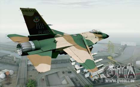 F-16C Fighting Falcon Aggressor 272 für GTA San Andreas linke Ansicht