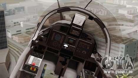 Embraer A-29B Super Tucano Low Visibility pour GTA San Andreas vue arrière