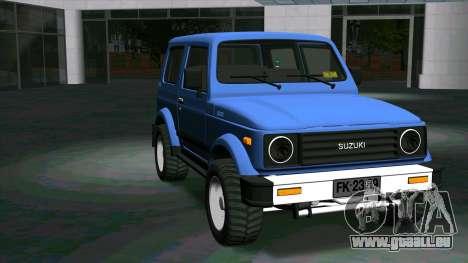Suzuki Samurai pour GTA San Andreas vue arrière