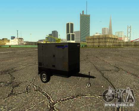 Multi Utility Trailer 3 in 1 für GTA San Andreas Rückansicht