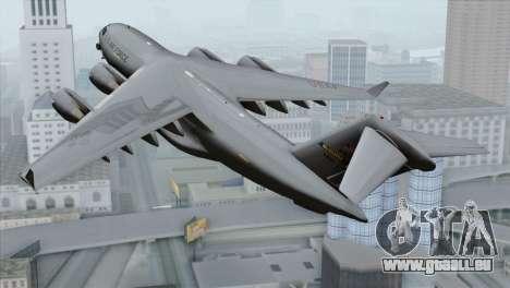 C-17A Globemaster III USAF McGuire pour GTA San Andreas laissé vue