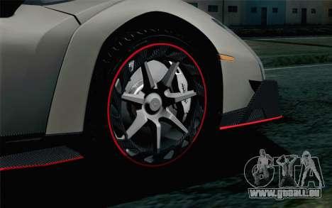 NFS Rivals Lamborghini Veneno pour GTA San Andreas sur la vue arrière gauche