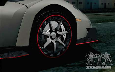 NFS Rivals Lamborghini Veneno für GTA San Andreas zurück linke Ansicht