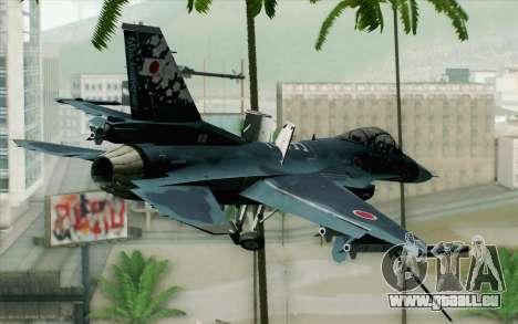 F-2A Viper 60th Anniversary of JASDF für GTA San Andreas linke Ansicht
