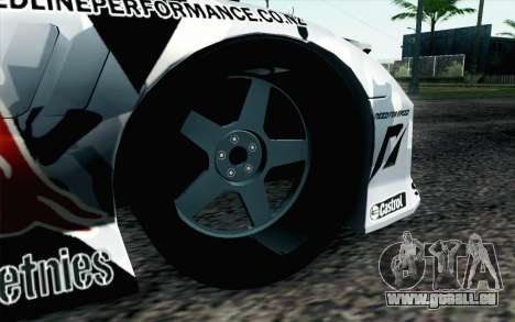 Mazda RX-7 MadMike pour GTA San Andreas sur la vue arrière gauche