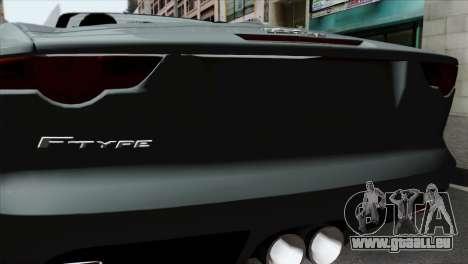Jaguar F-Type für GTA San Andreas Rückansicht