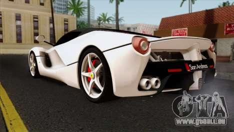 Ferrari LaFerrari 2015 pour GTA San Andreas laissé vue