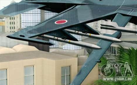 F-2A Viper 60th Anniversary of JASDF für GTA San Andreas rechten Ansicht