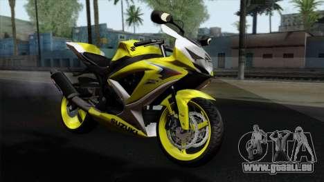 Suzuki GSX-R 2015 Yellow & White pour GTA San Andreas