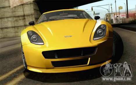 GTA 5 Dewbauchee Exemplar pour GTA San Andreas vue arrière