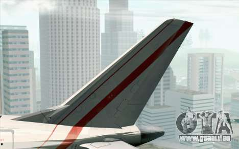 Embraer EMB-175 Republic Of Poland für GTA San Andreas zurück linke Ansicht