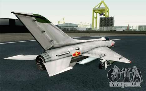 MIG-21 Fishbed C Vietnam Air Force für GTA San Andreas linke Ansicht