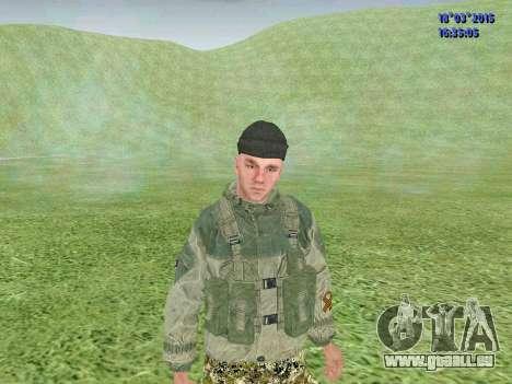 Soldat du bataillon Zorya pour GTA San Andreas troisième écran