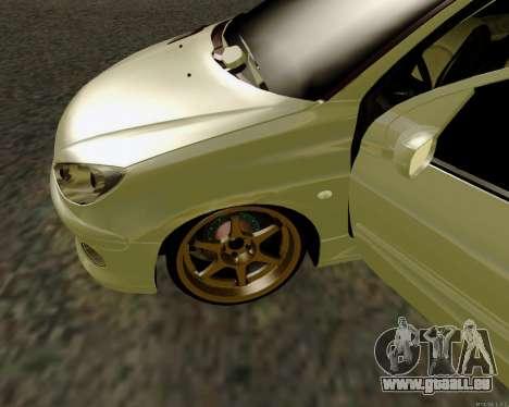Peugeot 206 Street Racer Tuning pour GTA San Andreas vue intérieure