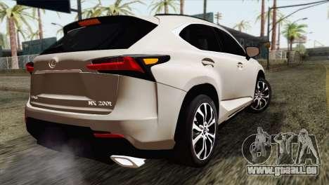 Lexus NX 200T für GTA San Andreas linke Ansicht