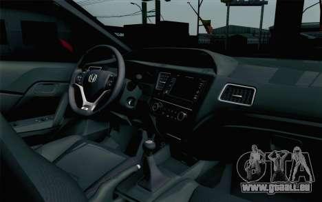 Honda Civic SI 2013 für GTA San Andreas rechten Ansicht