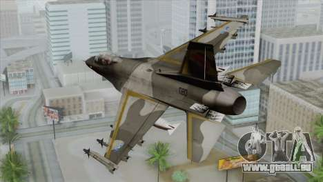 F-16 Scarface Squadron für GTA San Andreas linke Ansicht
