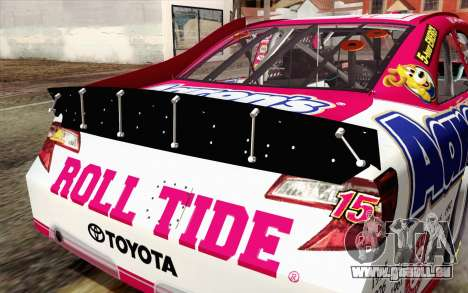 NASCAR Toyota Camry 2012 Plate Track pour GTA San Andreas vue arrière