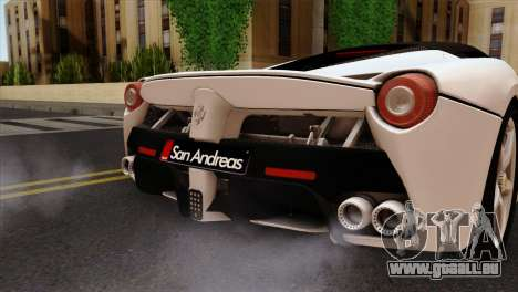 Ferrari LaFerrari 2015 für GTA San Andreas Rückansicht