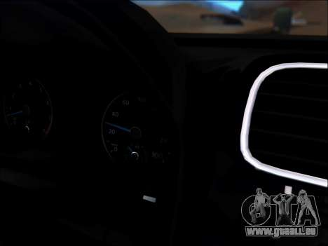 Volkswagen Scirocco Tunable pour GTA San Andreas vue de dessous