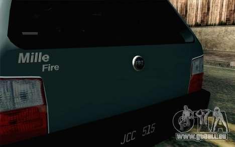 Fiat Uno Fire für GTA San Andreas Rückansicht