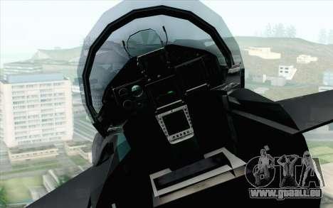 EuroFighter Typhoon 2000 Black Hawk pour GTA San Andreas vue arrière