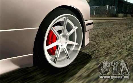 BMW M3 E30 2015 pour GTA San Andreas sur la vue arrière gauche