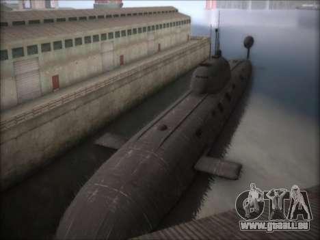 NPS projet 941 Akula pour GTA San Andreas deuxième écran