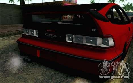 Honda CRX pour GTA San Andreas vue arrière