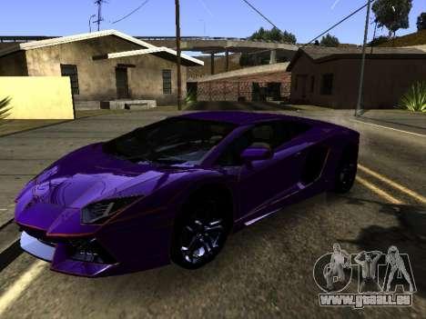 Lamborghini Aventador Tron pour GTA San Andreas vue de côté