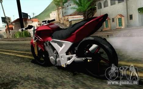 Honda Twister 250 v2 für GTA San Andreas linke Ansicht
