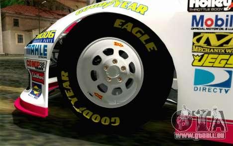 NASCAR Toyota Camry 2012 Plate Track pour GTA San Andreas sur la vue arrière gauche