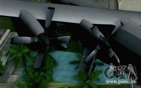 C-130H Hercules Polish Air Force pour GTA San Andreas vue de droite