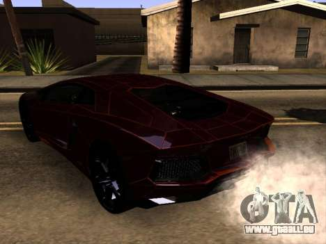 Lamborghini Aventador Tron pour GTA San Andreas sur la vue arrière gauche