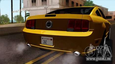 Ford Mustang GT Wheels 1 für GTA San Andreas Rückansicht