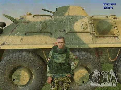 Un combattant de Sparte bataillon pour GTA San Andreas cinquième écran