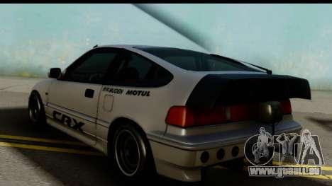 Honda CRX Dragster pour GTA San Andreas laissé vue