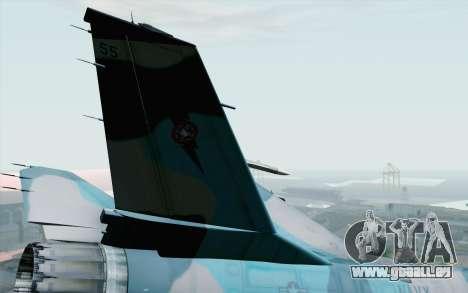 F-16C Fighting Falcon NSAWC Blue für GTA San Andreas zurück linke Ansicht