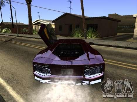 Lamborghini Aventador Tron pour GTA San Andreas vue de droite
