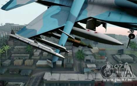 F-16C Fighting Falcon NSAWC Blue pour GTA San Andreas vue de droite