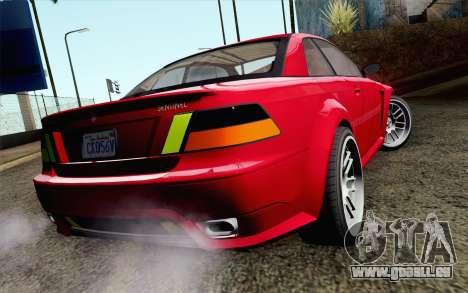 GTA 5 Ubermacht Sentinel Coupe IVF pour GTA San Andreas laissé vue