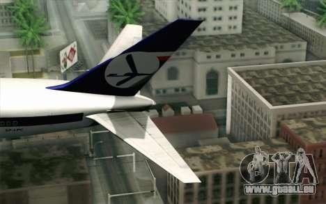 Boeing 767-300 PLL LOT für GTA San Andreas zurück linke Ansicht
