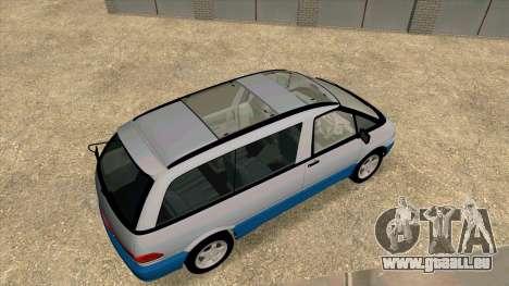 Toyota Estima Lucida 1990 pour GTA San Andreas vue arrière