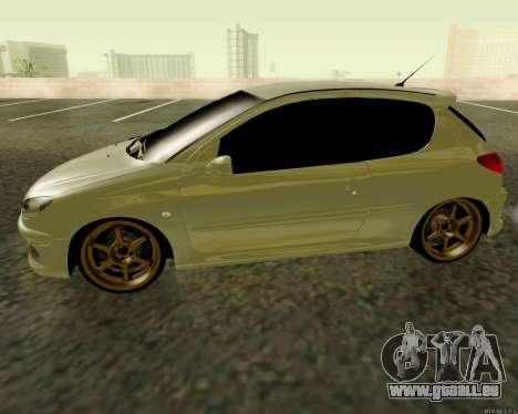 Peugeot 206 Street Racer Tuning pour GTA San Andreas laissé vue