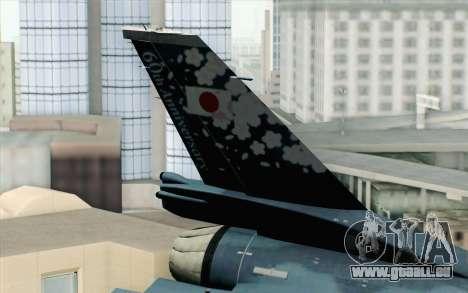 F-2A Viper 60th Anniversary of JASDF pour GTA San Andreas sur la vue arrière gauche