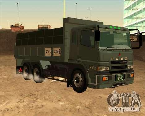 Mitsubishi Fuso Super Great Dump Truck für GTA San Andreas