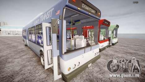 GTA 5 Bus v2 pour GTA 4 est une vue de l'intérieur