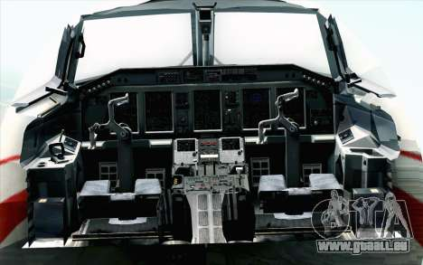 Embraer EMB-175 Republic Of Poland für GTA San Andreas Rückansicht