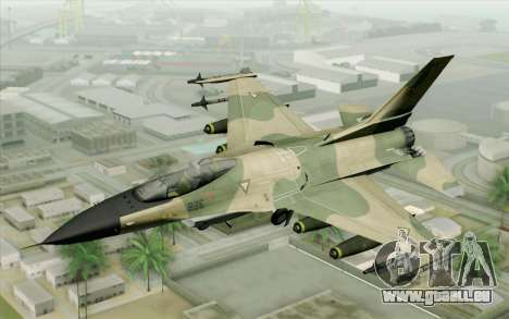 F-16 Fighter-Bomber Green-Brown Camo für GTA San Andreas